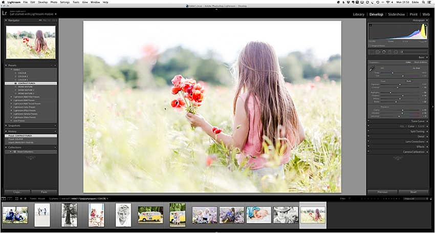 Adding your new lightroom presets & brushes