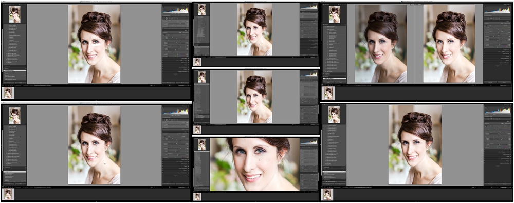 Beauty retouching using Lightroom
